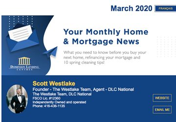 March Monthly Mortgage Newsletter - 2020