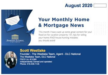 Monthly Mortgage Newsletter - August 2020