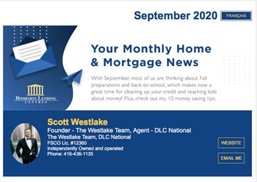 Monthly Mortgage Newsletter - September 2020